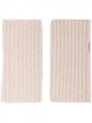 Sora knitted ribbed gloves Lisa Yang. Цвет: нейтральные цвета