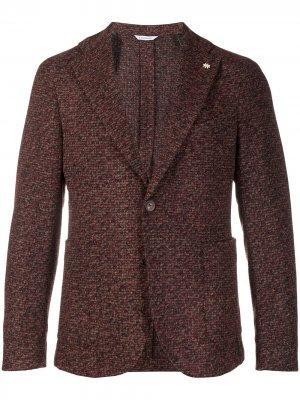 Однобортный пиджак Manuel Ritz. Цвет: коричневый