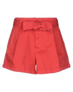 Джинсовые шорты JUCCA. Цвет: красный