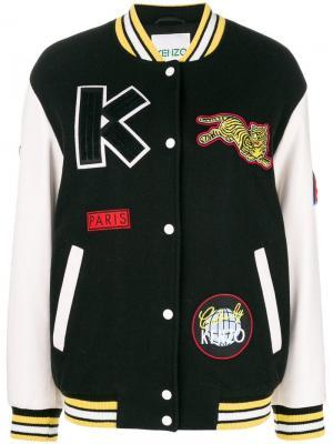 Куртка-бомбер с тигром Kenzo. Цвет: черный