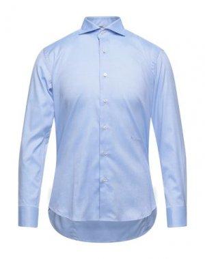 Pубашка AQUASCUTUM. Цвет: синий