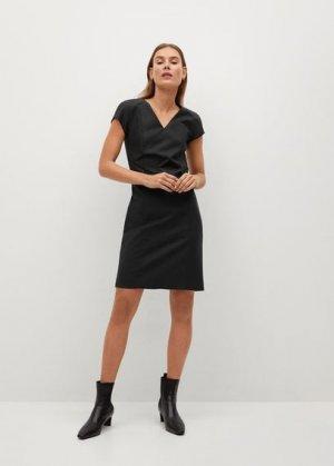 Короткое облегающее платье - Cofi7-n Mango. Цвет: черный