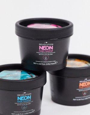 Светящаяся в ультрафиолете неоново-розовая краска для волос -Розовый I Heart Revolution