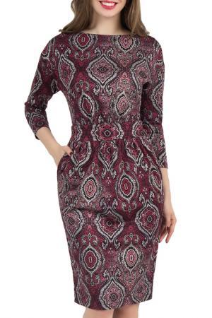 Платье Olivegrey. Цвет: черно-бордовый