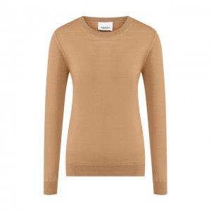 Шерстяной пуловер Burberry. Цвет: бежевый