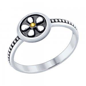 Кольцо из чернёного серебра SOKOLOV