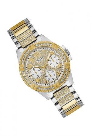Наручные часы Guess. Цвет: золотистый, серебристый
