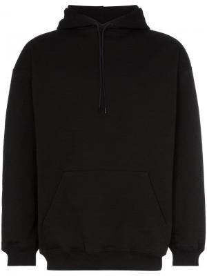 Толстовка с капюшоном и принтом логотипа Balenciaga. Цвет: черный