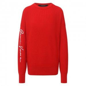 Шерстяной свитер Versace. Цвет: красный