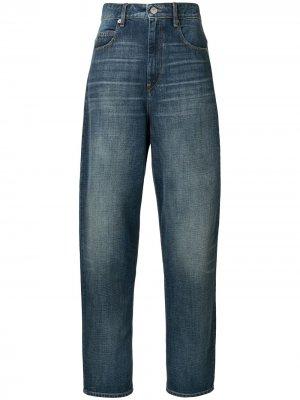 Зауженные джинсы с завышенной талией Isabel Marant Étoile. Цвет: синий