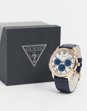 Часы-браслет с синим циферблатом -Серебристый Guess