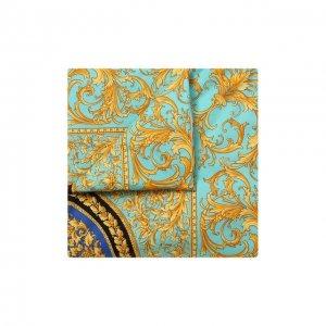 Хлопковое одеяло Versace. Цвет: зелёный