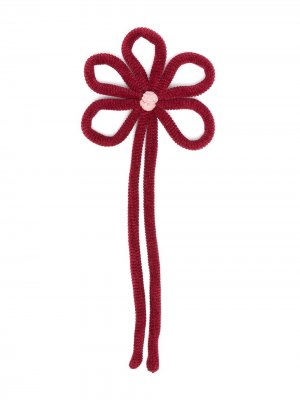 Брошь в форме цветка Piccola Ludo. Цвет: красный