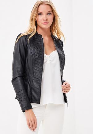 Куртка кожаная Wallis WA007EWBNNX7. Цвет: черный