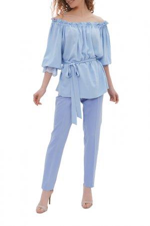 Комплект: блузка, брюки Argent. Цвет: голубой