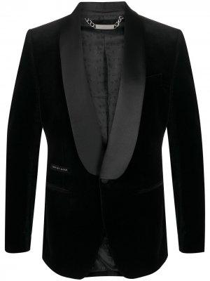 Бархатный пиджак Elegant Philipp Plein. Цвет: черный