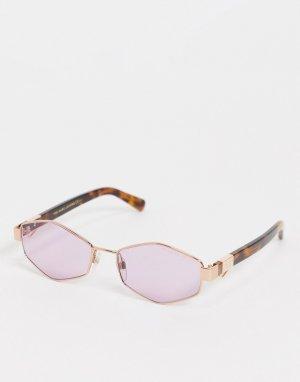 Солнцезащитные очки с шестиугольными линзами 496/S-Фиолетовый цвет Marc Jacobs