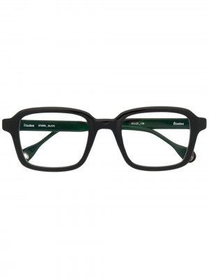 Солнцезащитные очки в квадратной оправе Etudes. Цвет: черный