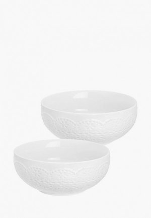 Набор салатников Elan Gallery 800 мл, 2 шт.. Цвет: белый