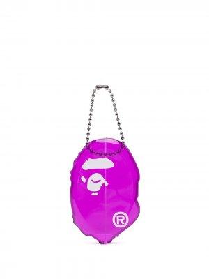 Кошелек для монет с графичным принтом A BATHING APE®. Цвет: фиолетовый