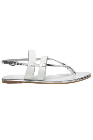 Туфли летние открытые Alba. Цвет: белый, серебряный