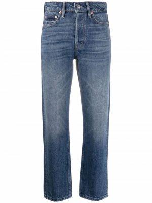 Укороченные джинсы прямого кроя Maje. Цвет: синий