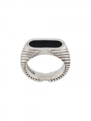 Перстень с камнем Emanuele Bicocchi. Цвет: золотистый