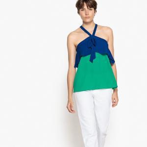 Майка однотонная, без рукавов LA REDOUTE COLLECTIONS. Цвет: зеленый/ синий,красный/ малиновый