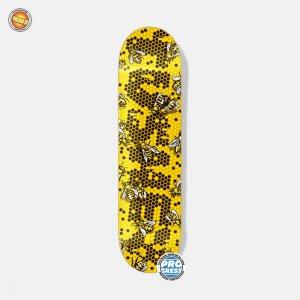Дека для скейтборда Progress Tushev Hive Footwork. Цвет: желтый
