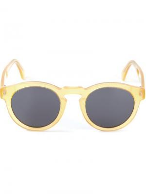 Солнцезащитные очки Leonard Illesteva. Цвет: жёлтый и оранжевый