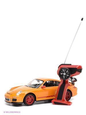 Машина р/у Porsche 911 GT3 RS 1:14 с аккумулятором KAISER. Цвет: желтый, черный