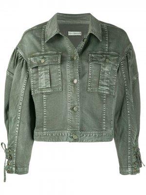 Джинсовая куртка Atticus Ulla Johnson. Цвет: зеленый