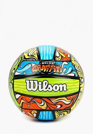 Мяч волейбольный Wilson OCEAN GRAFFITI. Цвет: разноцветный