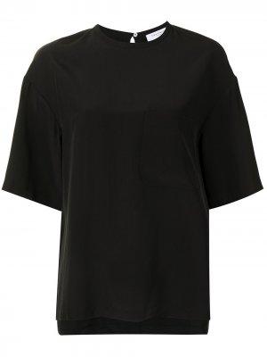 Блузка Viannet с короткими рукавами Equipment. Цвет: черный