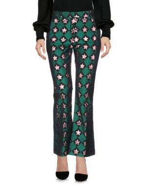 Повседневные брюки AU JOUR LE. Цвет: зеленый