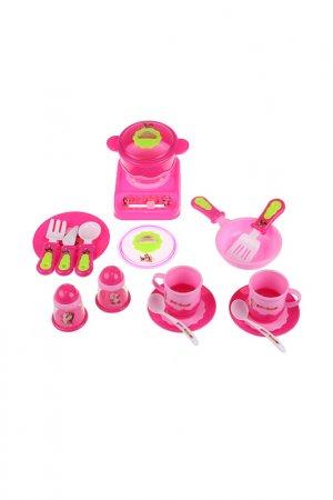 Набор посуды Играем вместе. Цвет: розовый