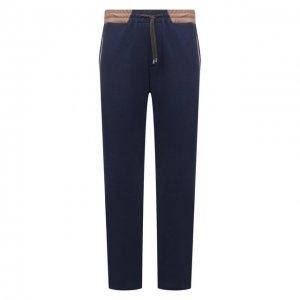 Хлопковые брюки Cortigiani. Цвет: синий
