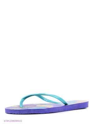 Шлепанцы DUPE. Цвет: фиолетовый