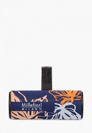 Аромадиффузор Millefiori Milano ICO CAR AIR FRESHENER ICON TEXTILE FLORAL - WHITE MUSK. Цвет: синий