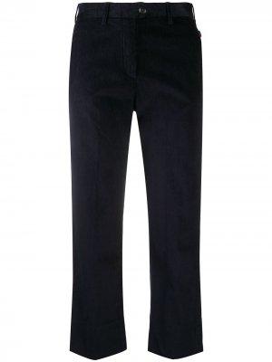 Укороченные брюки прямого кроя Woolrich. Цвет: синий
