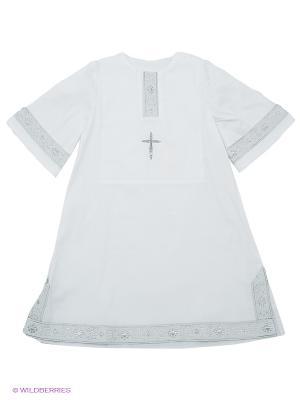 Рубашка Ангел мой. Цвет: белый, серебристый