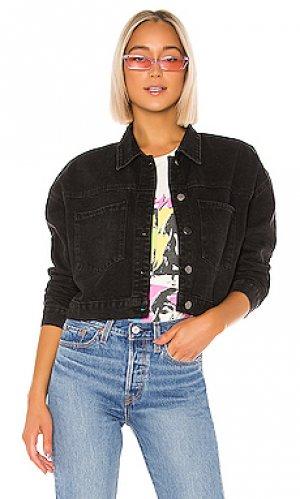 Джинсовая куртка mary jane superdown. Цвет: черный