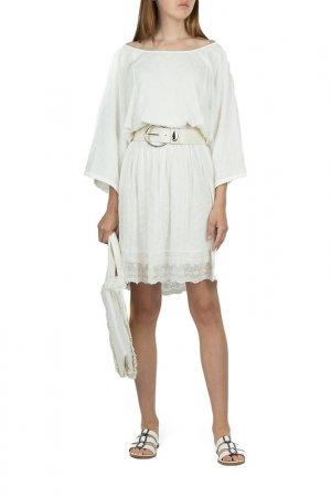 Платье SEMICOUTURE. Цвет: белый