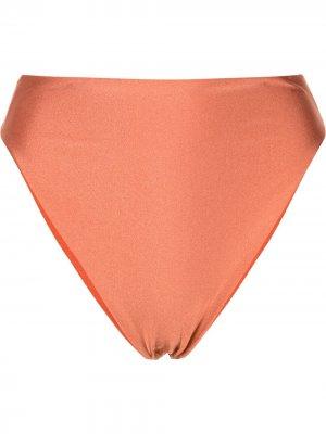 Плавки бикини с высоким вырезом JADE SWIMWEAR. Цвет: оранжевый