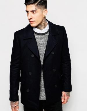 Пальто-бушлат Minimum. Цвет: navy blazer
