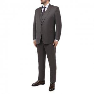 Шерстяной костюм-тройка Eduard Dressler. Цвет: серый