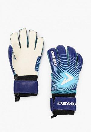 Перчатки вратарские Demix. Цвет: синий