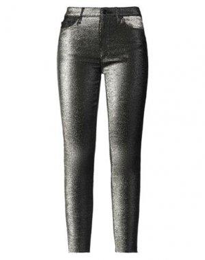 Повседневные брюки BLACK ORCHID. Цвет: золотистый