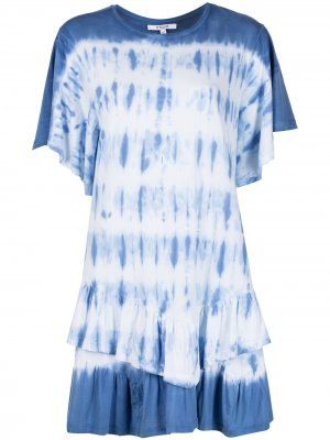 Платье Lois с короткими рукавами и оборками Derek Lam 10 Crosby. Цвет: синий
