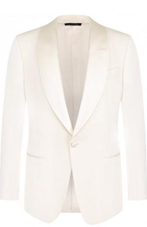 Шерстяной пиджак Tom Ford. Цвет: белый